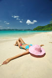 Relax on a beach Stock Image