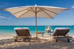 Relax on the beach. Of Nosy Iranja, Madagascar Royalty Free Stock Photo