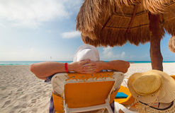 Relax on the beach Stock Photography