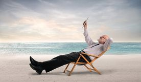 Relax at the beach Stock Photography