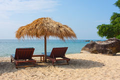 Relax on the beach in Cambodia Stock Images
