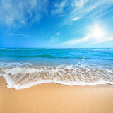 Relax on the  Beach - fantastic summer landscape Royalty Free Stock Photo