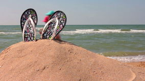 Relax on the beach stock footage