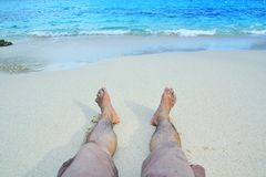 Relax in the beach Royalty Free Stock Photography