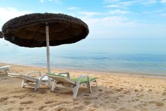 Relax on the beach royalty free stock image