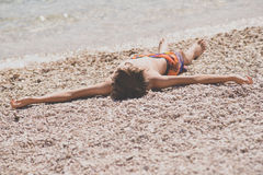 Relax on the beach Royalty Free Stock Photos