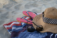 Relax on the beach Stock Images