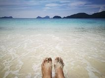 Relax on the beach in Thailand Royalty Free Stock Photography
