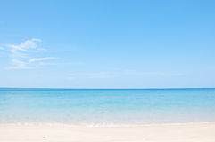 Relax on the beach and tropical sea Royalty Free Stock Photo