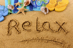 Relax beach vacation Stock Image