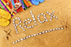 Relax beach writing Royalty Free Stock Image