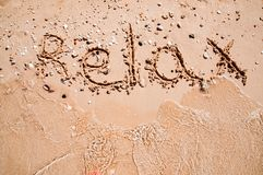 Relax on beach Stock Images