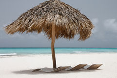 Relax at the beautiful caribbean sea Royalty Free Stock Images