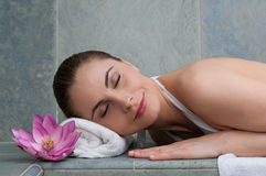 Relax at beauty center Royalty Free Stock Photography