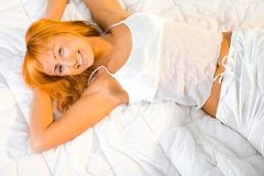 Relax in bed Royalty Free Stock Images
