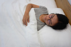 Relax on the bed Stock Images