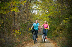 Relax biking Stock Image