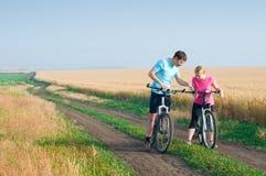 Relax biking Royalty Free Stock Photo
