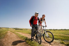 Relax biking Stock Photography