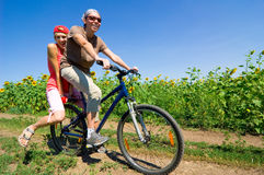 Relax biking royalty free stock images