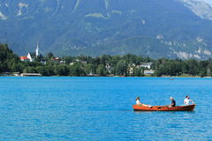 Relax on Bled lake Stock Images