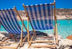 Relax at blue lagoon Stock Photos