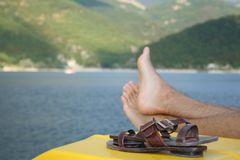 Relax on a boat Stock Image