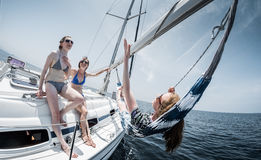 Relax on the boat Royalty Free Stock Photography