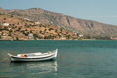 Relax on boat on the see, Crete, Greece Stock Photography