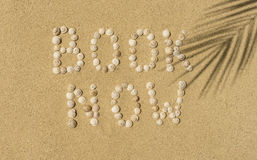 Relax - book now Royalty Free Stock Photography