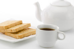Relax with bread and coffee Royalty Free Stock Images