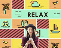 Relax Calm Chill Happiness Life Resting Vacation Concept Royalty Free Stock Photography