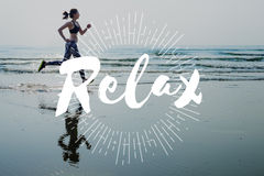 Relax Calm Chill Happiness Resting Vacation Concept Royalty Free Stock Photo