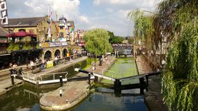 Relax at Camden Town Lock stock images
