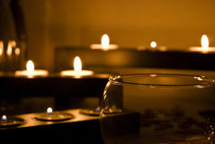 Relax candle Royalty Free Stock Image