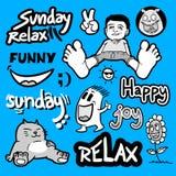 Relax cartoon Stock Photography