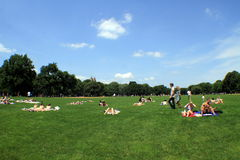 Relax in Central Park - summer Royalty Free Stock Photos