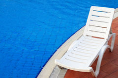 Relax chair near the pool Stock Photography