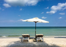Relax chairs on the beach in Phu Quoc, Vietnam Stock Photo