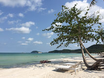 Relax chairs on the beach in Phu Quoc, Vietnam Stock Photography