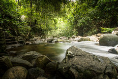 Relax with clear beautiful waterfall Royalty Free Stock Photos