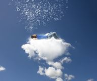Relax on a cloud Royalty Free Stock Photos
