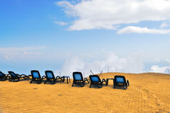 Relax in clouds. Of Tahtali, Turkey, Kemer, Antalya Royalty Free Stock Images