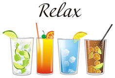 Relax with cocktails Stock Images