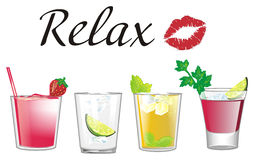 Relax with cocktails Royalty Free Stock Photography