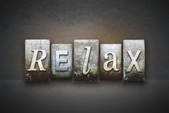Relax Concept Letterpress Theme Royalty Free Stock Photo