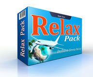 Relax concept pack with flight to paradise Royalty Free Stock Photo