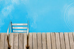 Relax concept with swimmingpool topview Stock Photo