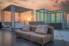 Relax coner on condominium roof top garden Stock Images