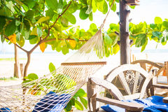 Relax corner on the beach Royalty Free Stock Photos